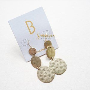 Bancroft Hammered Tiered Drop Earrings